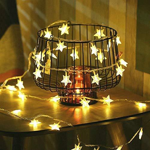 ABASK Twinkle Lights Star Christmas Lights String Lights Halloween Lights 16 FT 40 LEDs Battery Operated Fairy Lights Christmas Halloween Wedding Thanksgiving Party(Warm White)