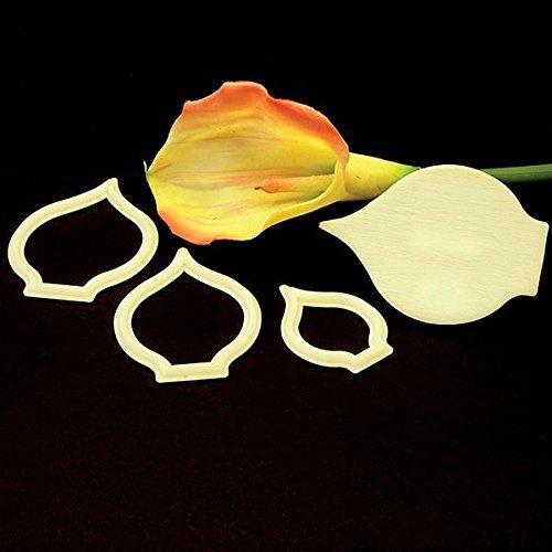FMM Sugarcraft Flower Cutter & Veiner Set - Arum / Cala Lily (Calla Lily Flower Cutter Set)