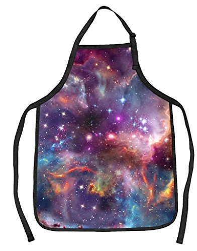 Funny Guy Mugs Galaxy Adjustable Apron with Pockets - Funny Apron for Men and Women - Perfect for Kitchen BBQ Grilling Barbecue Cooking Baking Crafting Gardening