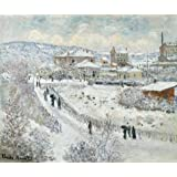 Canvas Prints Of Oil Painting ' Claude Monet,View Of Argenteuil,Snow,1874-1875 ' , 12 x 14 inch / 30 x 36 cm , Polyster Canvas Is For Gifts And Bath Room, Home Theater And Study Room Decoration, huge