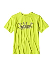 Patagonia Boys Capilene Silkweight Graphic Tee Chartreuse Size XL (14)