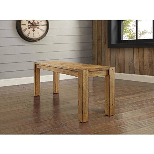Bryant Dining Bench, Rustic Brown (sitting)Dimensions: 47.75