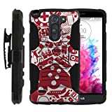 TurtleArmor | Compatible for LG G3 Stylus Case | D690 [Hyper Shock] Armor Solid Hybrid Cover Kickstand Impact Silicone Holster Belt Clip Video Games Design - Gaming Collage