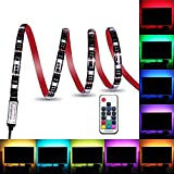 Colohas Led Strip Lights,6.56ft for 40-60in TV USB Backlight Kit with Remote, 20 Color 5050 Bias HDTV, for 40-60 Flat Screen TV Desktop,Neon Sign Decoration