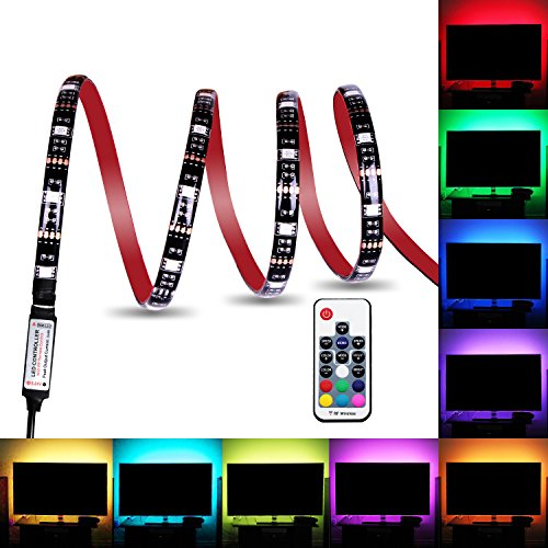Bias Lighting, Relohas TV Backlight for HDTV,LED Strip Lights with FR Remote Controller, 6.56ft RGB LED Strip Home Multi Color RGB LED TV Lighting for Flat Screen TV, PC, Neon - Lights Playstation 4