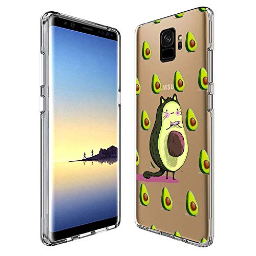 Durable Printing - GinHo Customized Protective Cover Samsung Galaxy S9 Totoro and Avocado with Slim Soft Durable TPU Ultra-Clear Silicone UV Printing Case