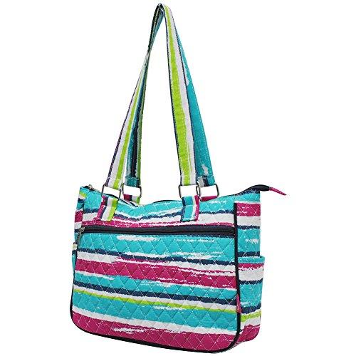 Style Fashion Stripes Hobo Quilted Rainbow navy Handbag NGIL Eq1pwp