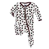 Kickee Pants Little Girls Print Footie with
