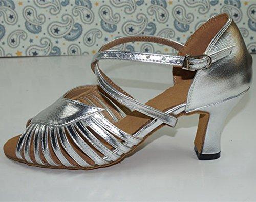 7cm femme de Miyoopark bal Salle heel Silver qwxPUqaX17