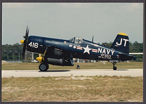 US Navy Chance Vought F4-U Corsair VF-653 restored: color photo (F4u Corsair Colors)