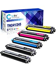5 LxTek Compatible Replacement for Brother TN241 TN-241 TN245 TN-245 Toner for Brother HL-3140CW MFC-9140CDN HL-3150CDW HL-3152CDW HL-3142CW HL-3172CDW DCP-9022CDW MFC-9142CDN MFC-9332CDW MFC-9342CDW