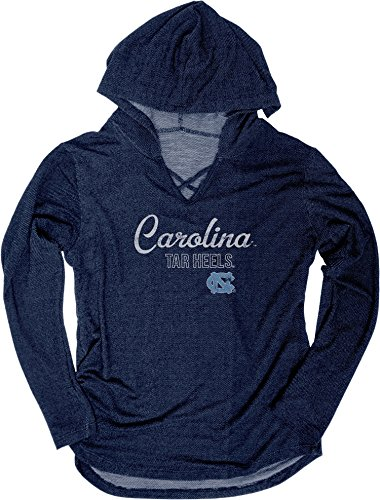 Blue 84 NCAA North Carolina Tar Heels Women's Kenzie Premium Terry Hoodie Shirt, Small, ()