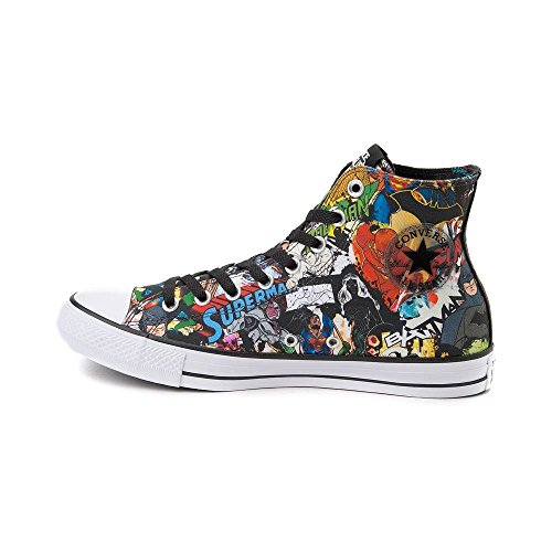 Trainers White CTAS Unisex Adults' Converse Black Justice League 9592 Top Comics Hi qwB47tY