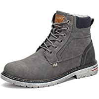 Mishansha Unisex Winter Anti-Slip Leather Warm Snow Boots (Grey)