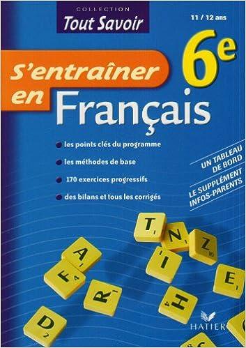 Livres gratuits en ligne S'entraîner en Français 6e epub, pdf