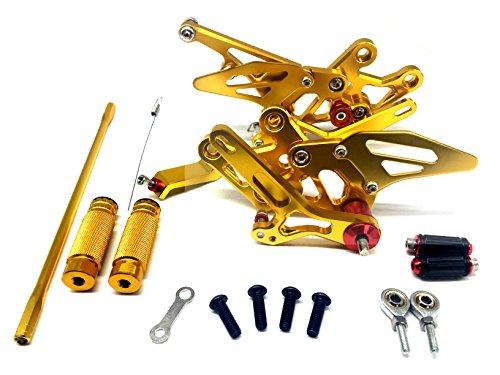 Gold Racing CNC GP Shift Rear Set Rearset Foot Peg For Yamaha FZ1 2006-2015 FZ8 10-13 Fazer 8