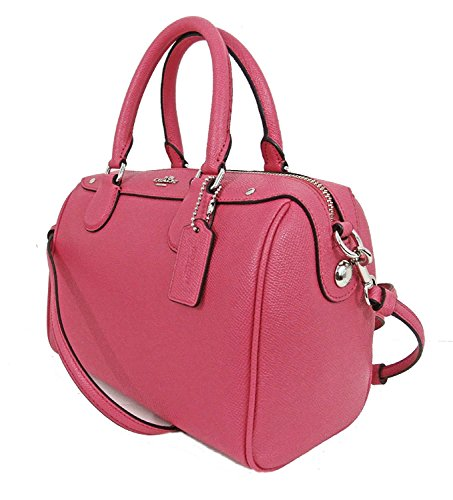 Authentic Coach Mini - Coach Mini Bennett Bag Handbag Purse Strawberry F57521 Crossgrain Leather