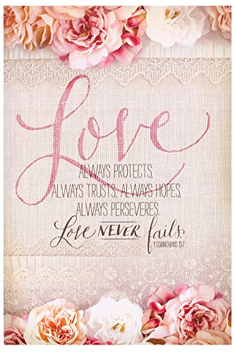 Salt & Light Love Always Protects Church Bulletins, 8 1/2 x 11 inches, 100 Count