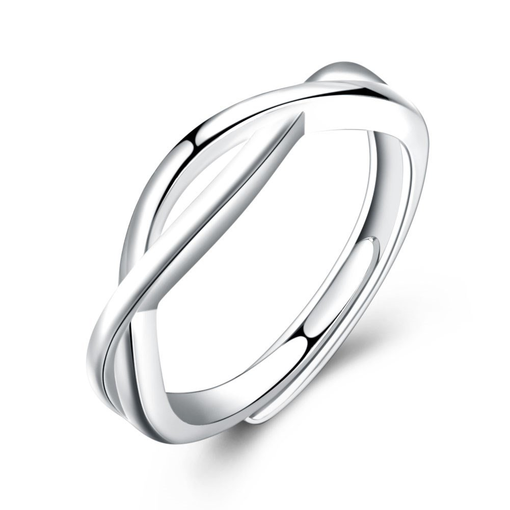 YJEdward 925 Silver Wedding Band Engagement Ring Fashion Gift For Women Girl Party Wear