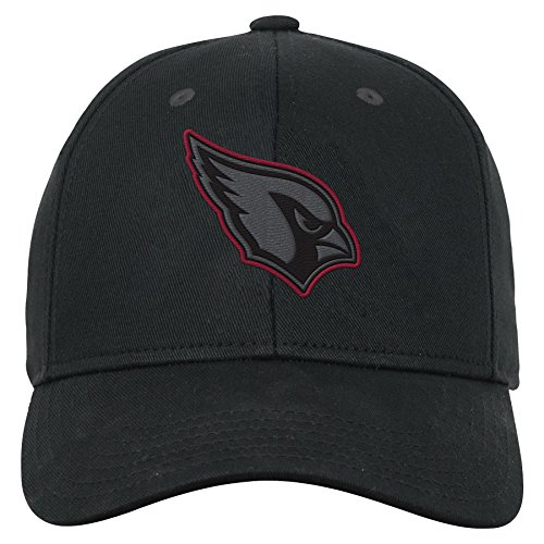 NFL by Outerstuff NFL Arizona Cardinals Youth Boys B&W Structured Adjustable Hat Cardinal, Youth One Size