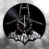 vintage modern home - Batman DC Superhero Vinyl Record Wall Clock Gift Great Idea Home Decor DC Comics Vintage Decoration - Buy gift for everybody