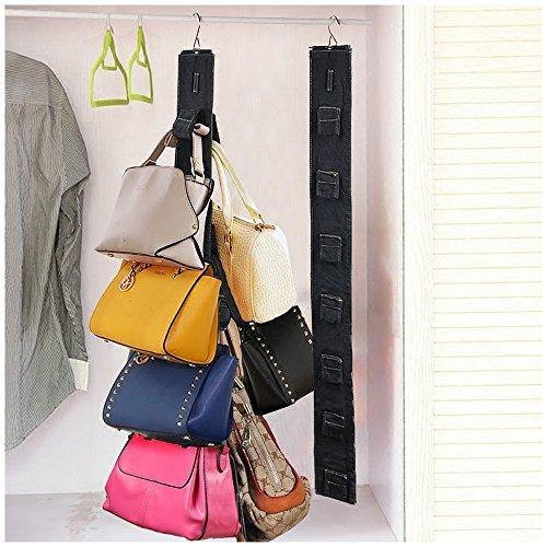 Attractive Hanging Purse Rack Handbag Closet Organizer Storage With Hook (1 Rack)