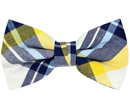 OCIA Mens Cotton Plaid Handmade Bow Tie -OM78