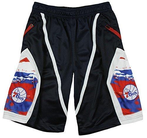 Philadelphia 76ers NBA Womens Vintage Logo, Full Zip Fleece Jacket, Black (Nba Reversible Fleece)