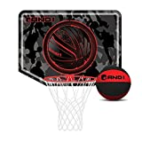 AND1 Mini Basketball Set Over The Door Hoop With 4 Ball Red
