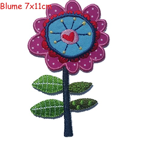 (Iron-on patches embroidered applique by TrickyBoo - Flower 7X11Cm Christmas Decorative Novelty Letter Fabric Embroidered Applique Cheeky Monster B)