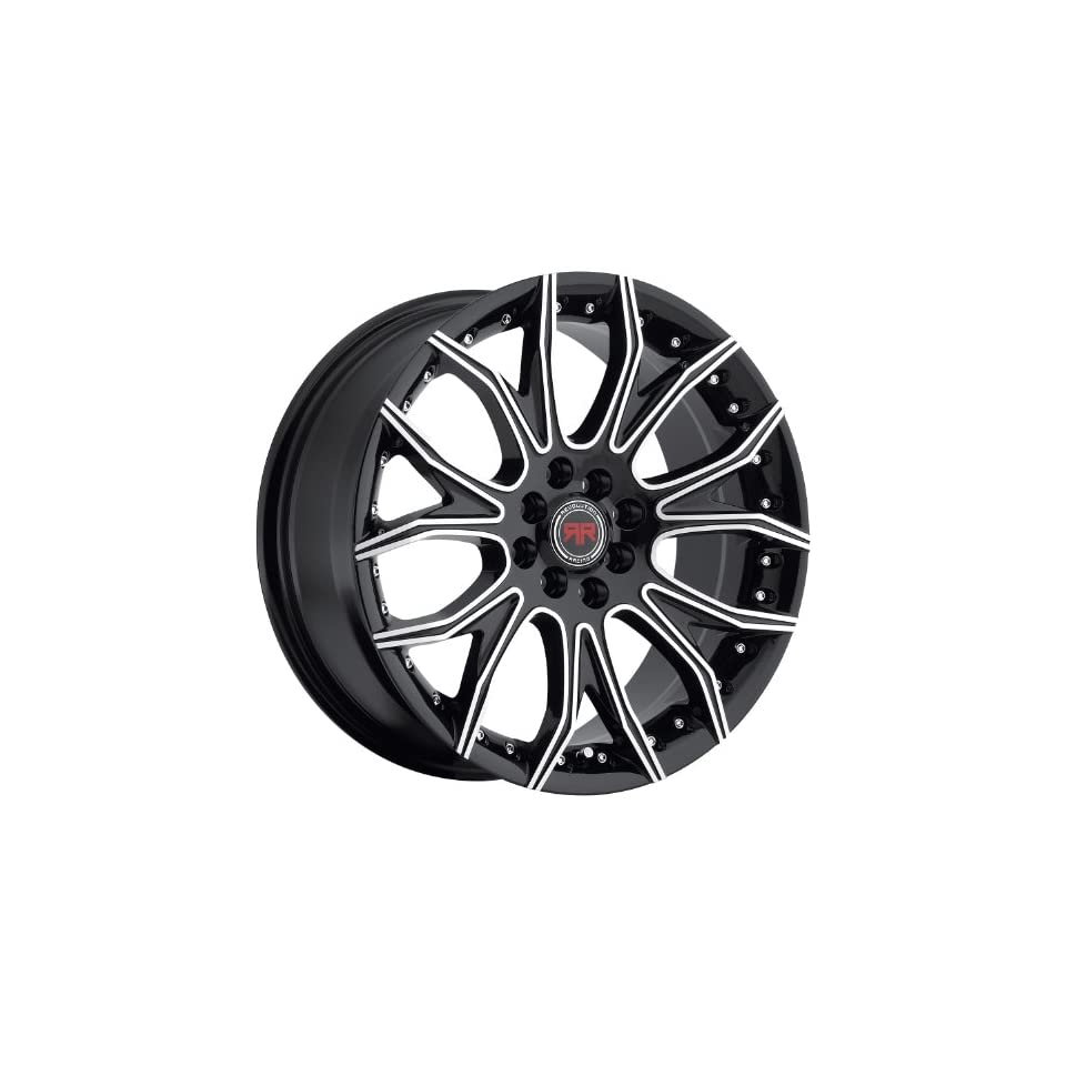 Revolution Racing RR04 18 Black Wheel / Rim 5x110 & 5x4.5 with a 40mm Offset and a 73.1 Hub Bore. Partnumber RR04 1881051101143+40BM