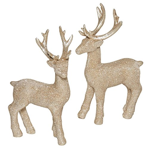 dtone 3.5 x 6 Inch Resin Tabletop Christmas Figurines Set of 2 ()