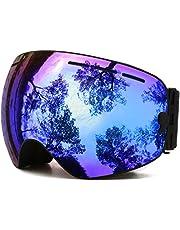 Juli Ski Goggles,Winter Snow Sports Snowboard Goggles with Anti-Fog Lens BNC