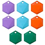 Image of XY3.1 Item Finder by XY Findables | Find Your Lost Keys, Wallet, Phone, Etc | Low Energy 4.0 Bluetooth Tracker | Sleek Hex Design | QTY 8 (Amethyst (2), Aquamarine (2), Citrine (2), Jade (2))