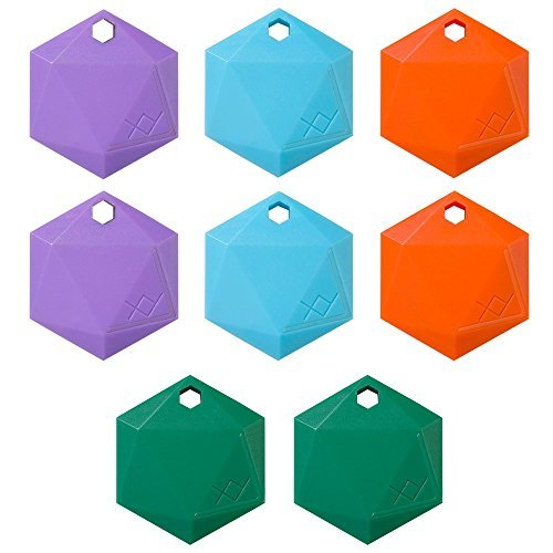 Xy3 1 Item Finder By Xy Findables   Find Your Lost Keys  Wallet  Phone  Etc   Low Energy 4 0 Bluetooth Tracker   Sleek Hex Design   Qty 8  Amethyst  2   Aquamarine  2   Citrine  2   Jade  2