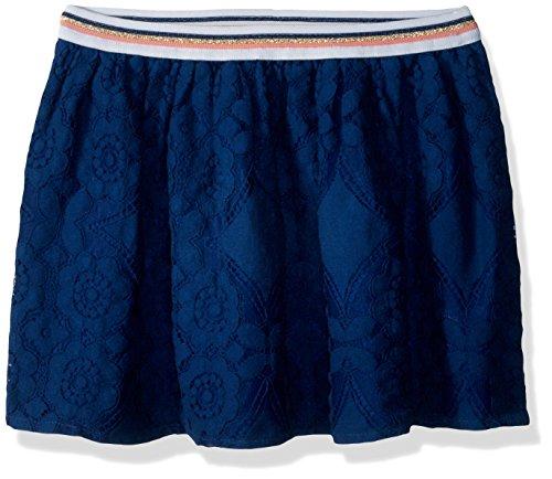 Elastic Woven Skirt Waist (Crazy 8 Girls' Little Elastic Waist Woven Midi Skirt, Navy lace, L)