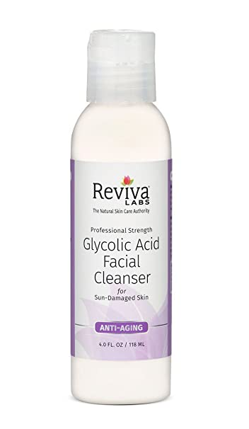 Professional Strength Glycolic Acid Anti-Aging Facial Toner - 4 fl. oz. by Reviva Labs (pack of 3) Micelec Double Sides Multifunction Silicone Facial Cleansing Brush Massage Tool Portable
