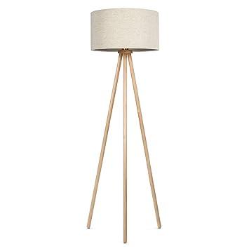 Tomons Lámpara de Pie Lámpara Vertical en Madera con trípode removible para Sala de Estar, Dormitorio, Estudio