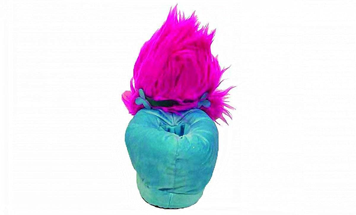 5c92693737b5 Happy Feet 2114-2 - DreamWorks Trolls - Poppy Slippers - Medium Mens and Womens  Slippers  Amazon.co.uk  Shoes   Bags