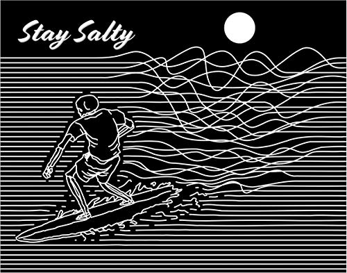 Stay Salty Fine Art Print Decor- Sea and Surf Motivational - 11x14 Unframed Art Print- Gift for Those Passionate For The Ocean and Nature. Great In Beach House, Bedroom or Dorm. Poster Decor Under $20
