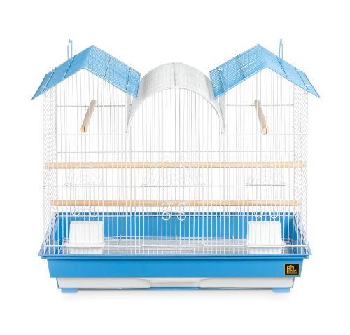 Parakeet Prevue Hendryx - Prevue Hendryx Triple Roof Cockatiel Cage, Blue and White