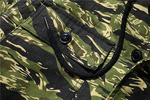 E Giacca Cashmere Cappuccio Militare In Con Ywjhy Verde wFXYBxq