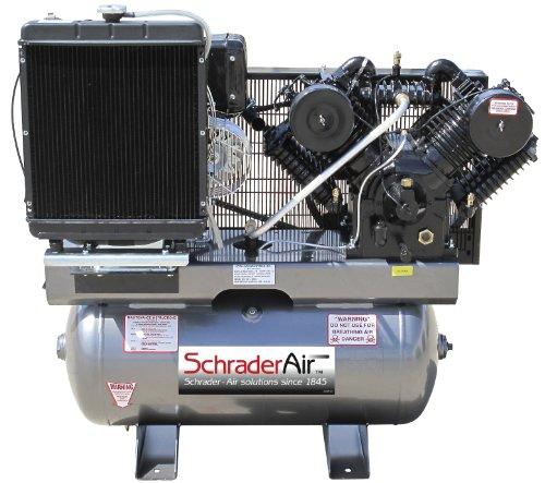 Schrader SA81650K 16.8 HP Diesel Kohler 50-Gallon Tank Ai...