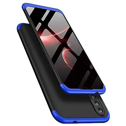 TheGiftKart Full Body 3 in 1 Slim Fit 360 Degree Protection Hybrid Hard  Bumper Back Case Cover for Honor 8X (Blue & Black)