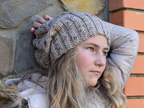 Amazon.com: Knitted slouchy beanie Girls slouch hat Teen