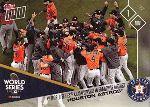 2017 Topps Now #YTTV Houston Astros World Series Championship Baseball Card - YouTube TV Moment Winner