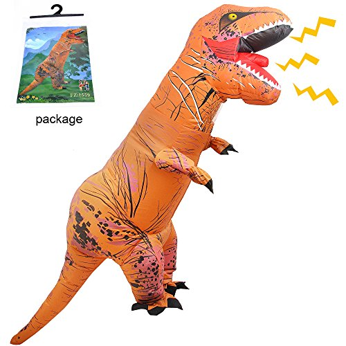 Adult Dress Up Costumes (Halloween Inflatable T-Rex Dinosaur for Adult Dress Up Fancy Cosplay Costume Suit)