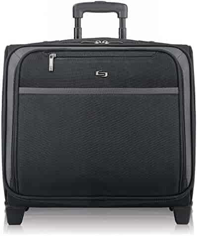 Solo Dakota 16 Inch Rolling Laptop Case with Overnighter Section, Black