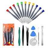 21pcs Precision Magnetic Screwdriver Repair Tools Kit Set for Phones/iphone, Computers/PC,Tablets/Pads/iPad Pro,Watch,and More Small Household Appliances Electronic Devices Pry Open DIY Tool Kits Set ¡­