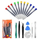 21pcs Precision Magnetic Screwdriver Repair Tools Kit Set for Phones/iphone, Computers/PC,Tablets/Pads/iPad Pro,Watch,and More